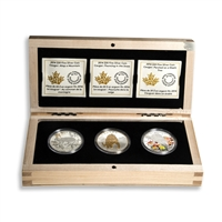 2014 $20 A Year in the Life of a Female Cougar - Pure Silver 3-Coin Set
