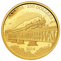 2014 $250 Pure Gold Coin - 100th Anniversary of the Completion of the Grand Trunk Pacific Railway