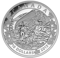 2015 $10 Fine Silver Coin - Canoe Across Canada: Wondrous West