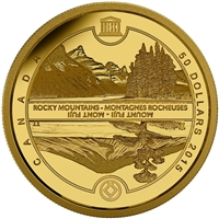 2015 $50 Pure Gold Coin - UNESCO at Home and Abroad: Mount Fuji & The Canadian Rockies