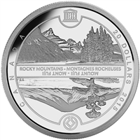 2015 $20 Fine Silver Coin - UNESCO at Home & Abroad: Mount Fuji & The Canadian Rockies