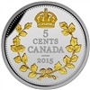 2015 5c Fine Silver Coin - Legacy of the Canadian Nickel: The Crossed Maple Boughs