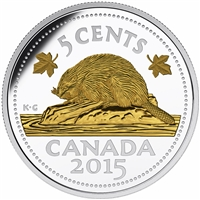 2015 5c The Beaver: Legacy of the Canadian Nickel - Pure Silver Coin