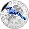 2015 $10 Fine Silver Coin - Colourful Songbirds of Canada: The Blue Jay