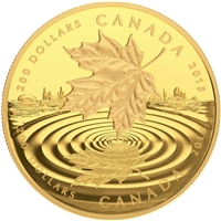 2015 $200 Pure Gold Coin - Maple Leaf Reflection