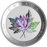 2015 $250 Maple Leaf Forever - Pure Silver Kilo Coin
