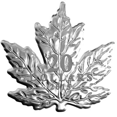 2015 $20 The Canadian Maple Leaf - Pure Silver Coin