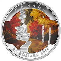 2015 $20 Autumn Express - Pure Silver Coin