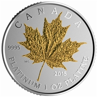2015 $300 Platinum Coin - Maple Leaf Forever