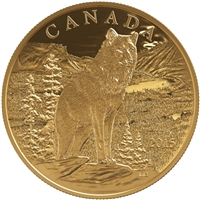 2015 $350 Imposing Alpha Wolf - Pure Gold Coin