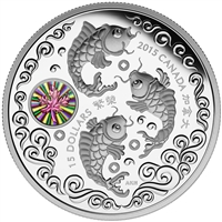 2015 $15 Fine Silver Coin - Maple of Prosperity