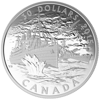 2015 $30 Fine Silver Coin - Canada's Merchant Navy in the Battle of the Atlantic