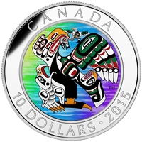 2015 $10 Fine Silver Coin - First Nations Art: Mother Feeding Baby