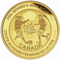 2015 $75 Pure Gold Coin - FIFA Women's World Cup: The Soccer Ball