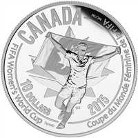 2015 $10 Fine Silver Coin - FIFA Women's World Cup: Celebration