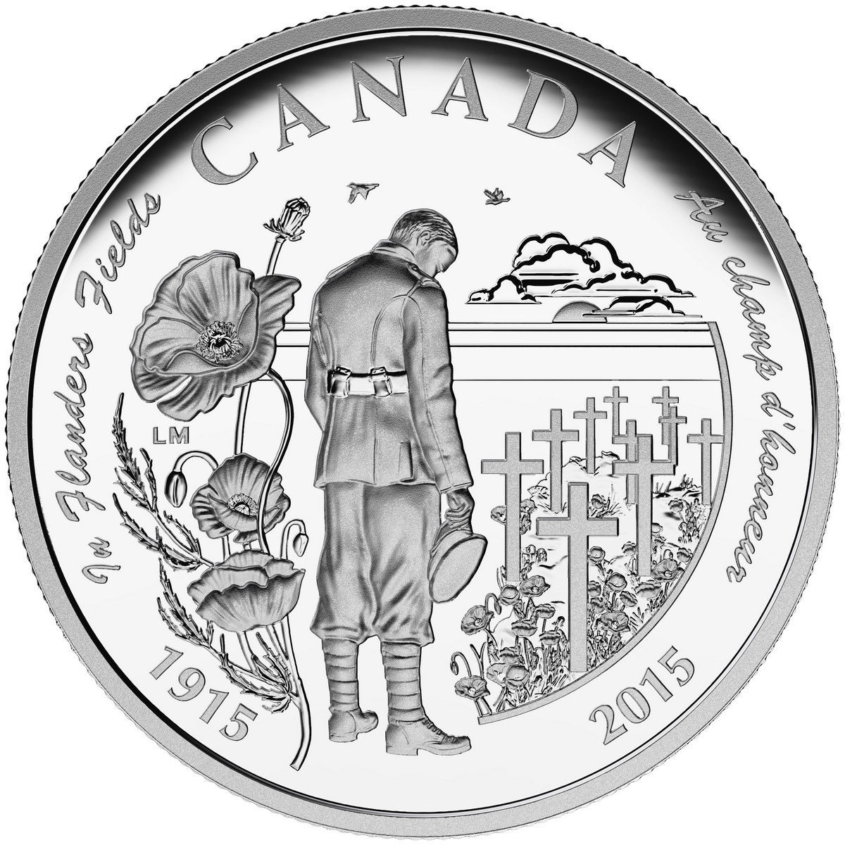 2015 $20 In Flanders Fields, 100th Anniversary - Pure Silver Coin