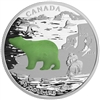 2015 $20 Fine Silver Coin - Canadian Icons: Polar Bear