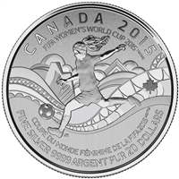 2015 $20 Fine Silver Coin - FIFA Women's World Cup