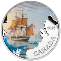 2015 $20 Franklin's Lost Expedition: Lost Ships in Canadian Waters - Pure Silver Coin