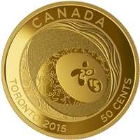 2015 50c Gold-Plated Coin - Toronto 2015 Pan Am/ Parapan Am Games: Celebrating Excellence