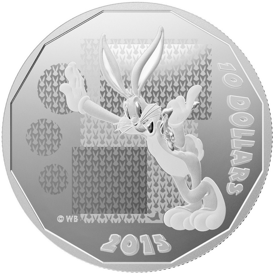 2015 Canada $10 Fine Silver Coin Looney Tunes What/'s Up Doc?