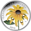 2015 $20 Fine Silver Coin - Black-Eyed Susan with Crystal Dew Drops
