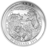 2015 $20 Family: Grizzly Bear - Pure Silver Coin