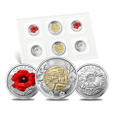 2015 Remembrance Coin Pack In Flanders Fields and Poppy