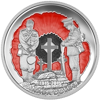 2015 $1 In Flanders Fields, 100th Anniversary - Limited Edition Proof Pure Silver Dollar