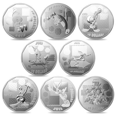 2015 $10 Fine Silver Coin - Looney Tunes Set