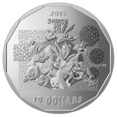 "2015 $10 Fine Silver Coin - Looney Tunes: ""That's all Folks"""