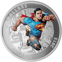 2015 $20 Fine Silver Coin - Iconic Superman Comic Book Covers: Action Comics #1 (2011)