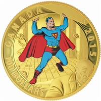 2015 $100 Gold Coin - Iconic Superman Comic Book Covers: Superman #4 (1940)