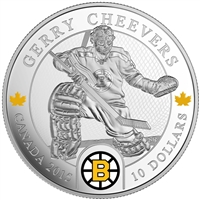 2015 $10 Goalies: Gerry Cheevers - Fine Silver Coin