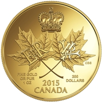2015 $200 A Historic Reign - Pure Gold Coin