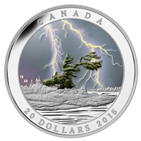 2015 $20 Fine Silver Coin - Weather Phenomenon - Summer Storm