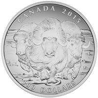 2015 $100 Musk Ox - Pure Silver Coin