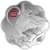 2016 $250 Lunar Lotus Year of the Monkey - Pure Silver Coin