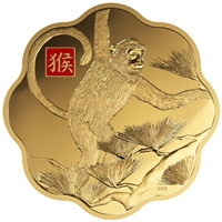 2016 $2500 Lunar Lotus Year of the Monkey - Pure Gold Coin