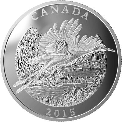 2015 $125 The Whooping Crane: Conservation Series - Pure Silver Coin