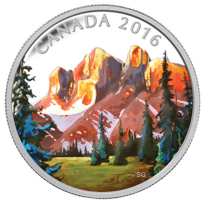 2016 $20 The Rockies: Canadian Landscape Series - Pure Silver Coin