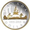 2015 $1 Fine Silver Coin - Renewed Silver Dollar: The Voyageur