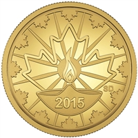 2015 25c Diwali: Festival of Lights - Pure Gold Coin