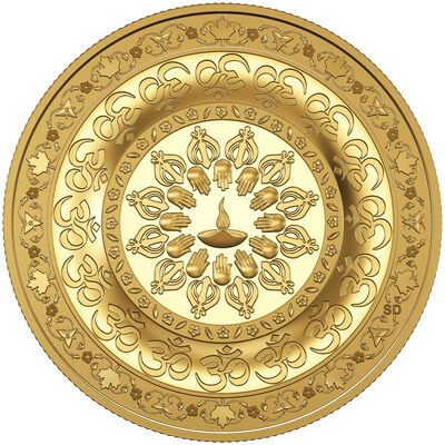 2015 $200 Diwali: Festival of Lights - Pure Gold Coin