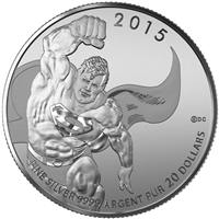 2015 $20 Superman: DC Comics Originals - Pure Silver Coin