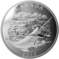 2015 $125 Fine Silver Coin - Conservation Series: The Narwhal