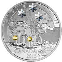 2015 $20 Holiday Reindeer - Pure Silver Coin