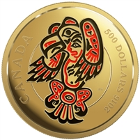 2016 $500 Pure Gold Coin - Mythical Realms of The Haida Series: The Eagle