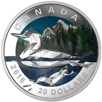 2016 $20 Fine Silver Coin - Geometry in Art: The Loon