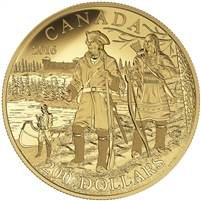 2016 $200 Pure Gold Coin - Great Canadian Explorers Series: Pierre Gaultier de la V�rendrye